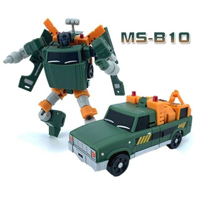 매직 스퀘어 MS 장난감 변환 MS B10 MS B10 호이스트 크레인 모드 미니 워크맨 포켓 액션 피규어 로봇 완구 선물