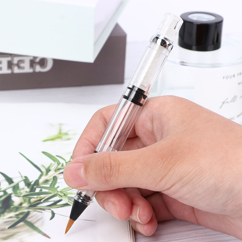 1pc Calligraphy Fountain Pen Refill Brush Filling DIY Chinese Writing Brush Scrapbook School Office Supplies Art Drawing Brush