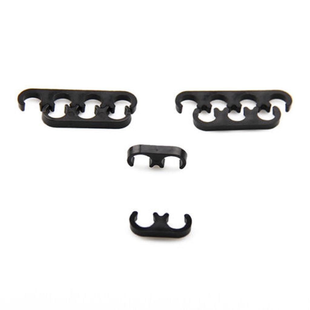 SET OF 6 PLASTIC SPARK PLUG WIRE CORD SEPARATORS DIVIDERS SET FOR CHEVY FORD