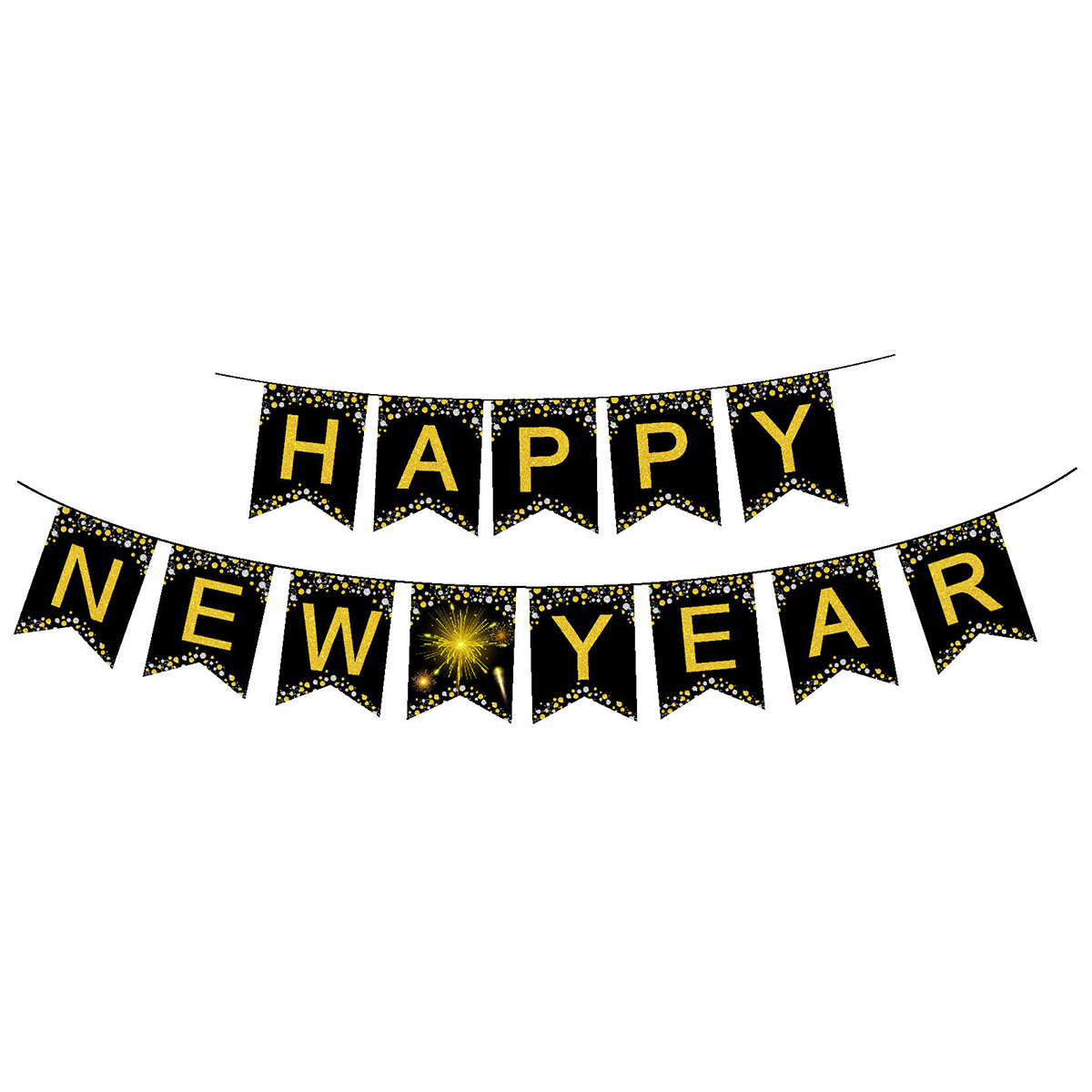 Happy New Year Banner 2019 New Year's Eve Party Banner Home Party Decoration New Year Theme Party Festival Vibe