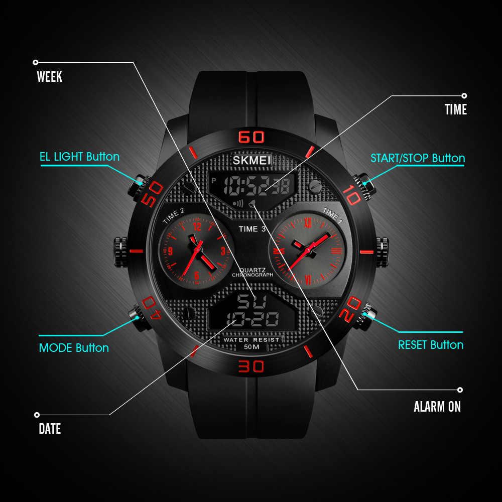 SKME Relogio Masculino 1335 Uomini Orologio Al Quarzo Digitale Cronografo Militare Orologio di Allarme di Sport Orologi Impermeabile Orologio Da Polso Maschile