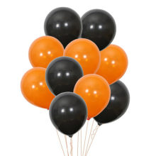 10 Pcs 2.5g 10inch, Black Orange Balloon Latex Baloons, Christmas Wedding Party Supplies Ballons Halloween Ballon balao toys(China)