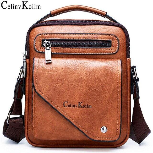 Celinv Koilm torba męska znany projektant mężczyźni torby listonoszki Split skóra Crossbody Tote mężczyźni moda wysokie formalne jakości