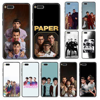Jonas Brothers Rock Phone case For Xiaomi Mi 6 8 9 A1 2 3 Max3 Mix2 Mix2S X T Lite Pro black painting coque 3D cover silicone image