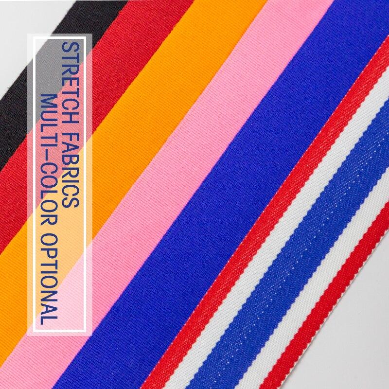 Bandagem com elástico em algodão 2 peças/rolo largura 5cm comprimento 2.5 m/5 cm
