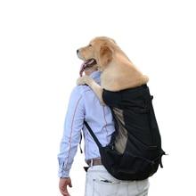 Large Pet Dog Breathable Carrier Bag Adjustable Backpack Big Dog Travel Carrying Bags for Large Dogs Golden Retriever Bulldog