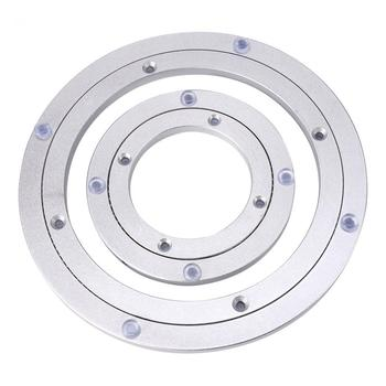 Solid 7 Sizes Aluminium Rotating Turntable Bearing Swivel Plate For Cake Decor TV Monitor Stand Electronic Repair Sculpture Base hq classic 40 inch 990mm od muted and smooth aluminium alloy lazy susan turntable swivel plate for big dining table