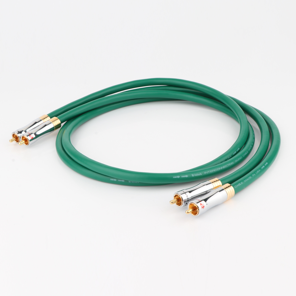 Hi-end <font><b>MCINTOSH</b></font> <font><b>2328</b></font> audio 4N Copper, <font><b>Mcintosh</b></font> RCA Interconnect audio cable wire with Pailiccs gold plated plugs image