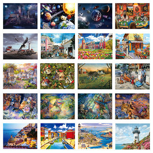 DIY 1000 Pieces Jigsaw Puzzle Educational Puzzle Games Toys Assembling Picture Landscape Puzzles For Adults Children Kids Gifts(China)