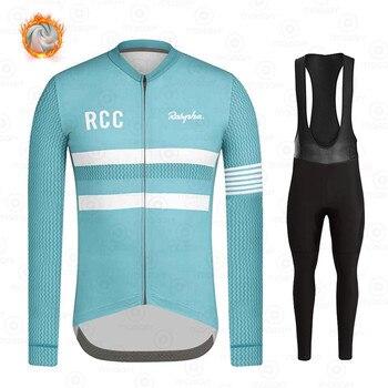 Ralvpha-Ropa de Ciclismo para Invierno, Conjunto de Jersey de manga larga, térmico...