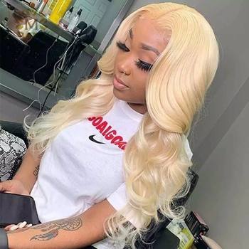 Blonde Wig HD Transparent Lace Frontal Wig 613 Lace Front Wig 30 Inch 13x6 T Part Body Wave Lace Front Human Hair Wigs For Women image