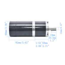 High Torque Planet DC Gear Motor 12V 24V 5/18/30/60/300RPM Diameter 60mm Planetary Geared Motor with Long Life TGX60RMM