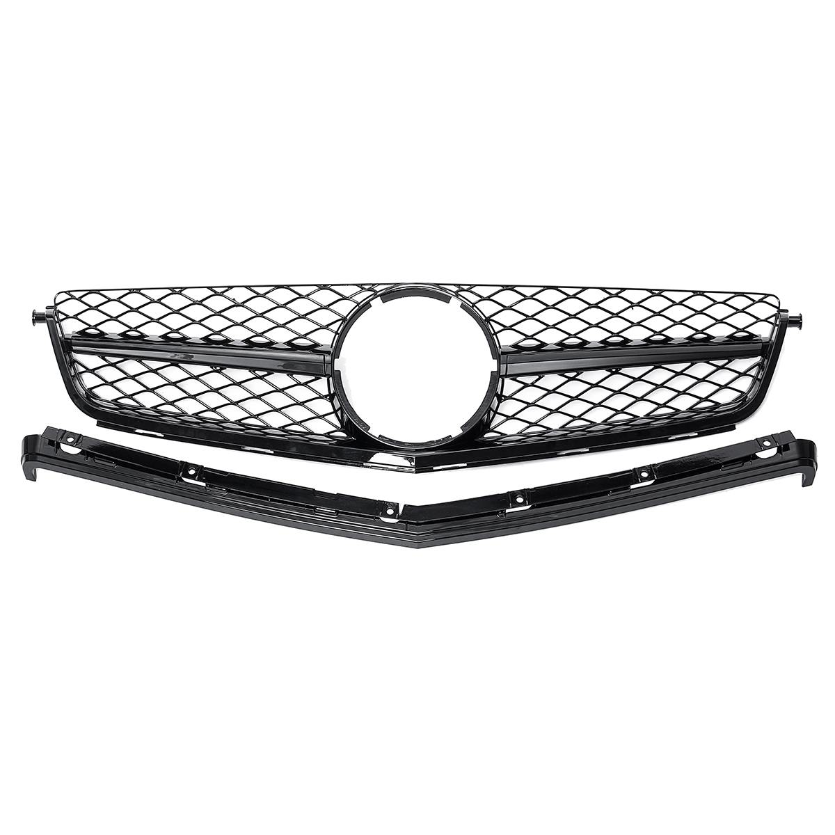 <font><b>W204</b></font> Real For AMG Model Car Front Grille <font><b>Grill</b></font> For Mercedes For <font><b>Benz</b></font> C-Class <font><b>W204</b></font> C63 For AMG 2Dr/4Dr Sedan 2008 2009 2010 2011 image