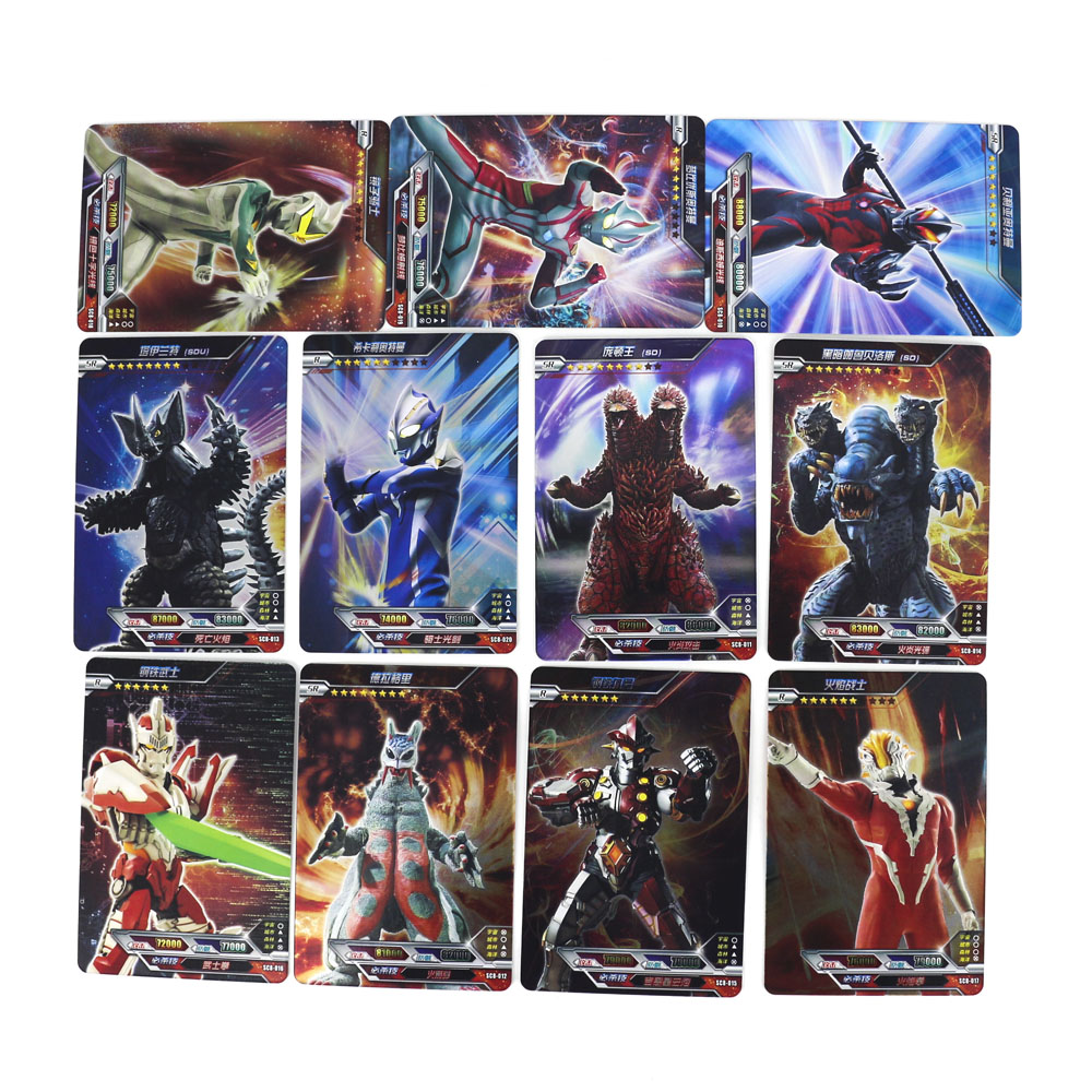 Hot Ultraman Shining Card Board Game 23 Flash Cards Collection 6 Real 3D Card Toys For Kids