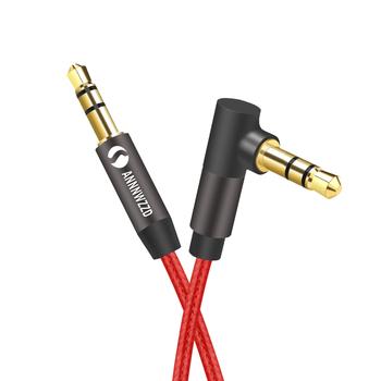 Kabel Audio 3 5mm kable Aux pozłacane 3 5mm jack audio kabel do słuchawek samochodowych MP3 4 głośnik do telefonu kabel pomocniczy tanie i dobre opinie ANNNWZZD Mężczyzna Mężczyzna AL12 AUX Kable Woreczek foliowy Oplot Komputer Multimedia Odtwarzacz dvd Telewizja MP3 Mp4
