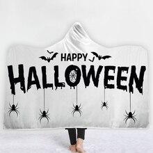 3D Hooded Blankets Halloween Ghost Home Adults Thread Warm Soft Pumpkins Cartoon Printing for kids