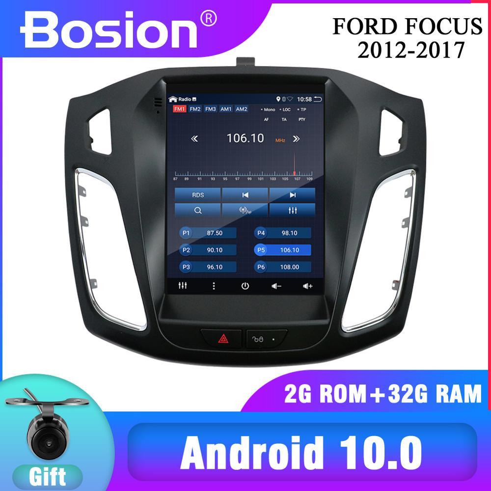 Новинка! Bosion для Ford Focus 3 Mk 3 2012-2017 Tesla экран Tesla стиль Android 10 автомобильное радио Мультимедиа Видео плеер навигация GPS