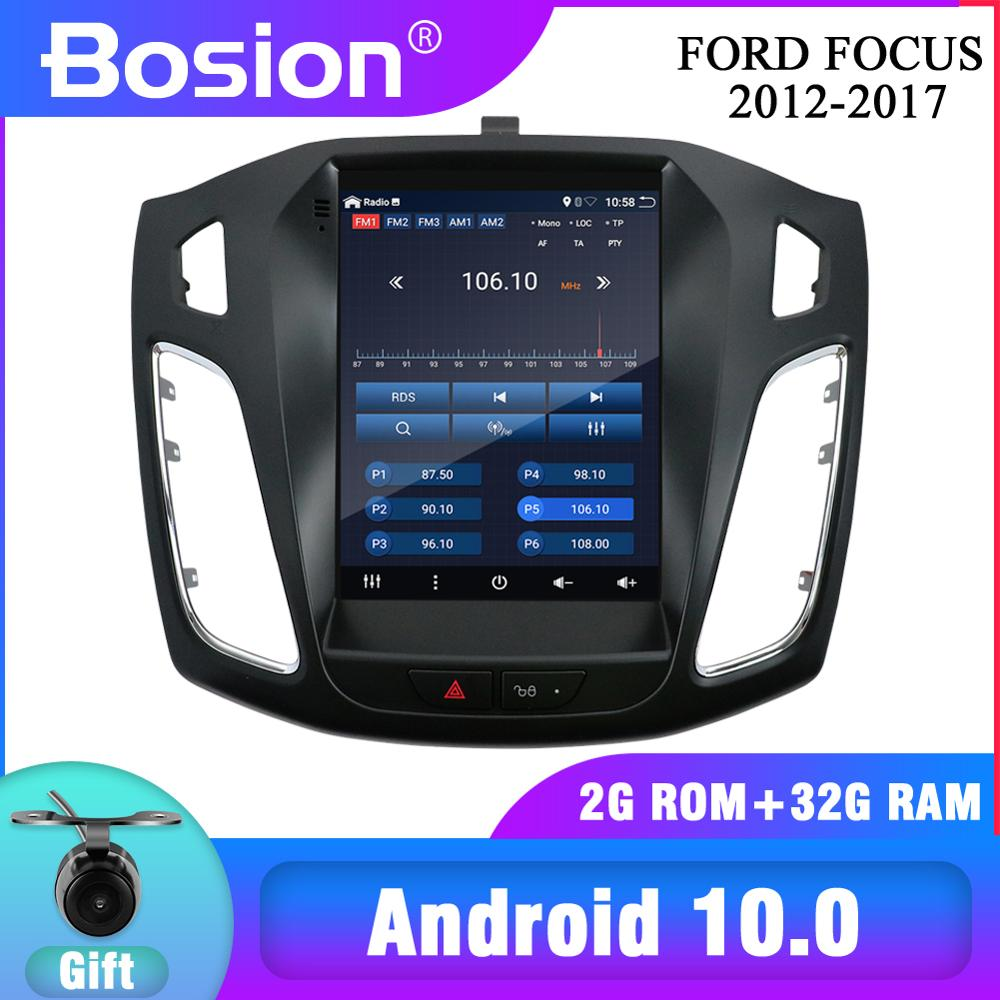 NEW! Bosion For <font><b>Ford</b></font> <font><b>Focus</b></font> 3 Mk 3 2012-2017 Tesla screen Tesla style Android 10 Car Radio Multimedia Video Player <font><b>Navigation</b></font> GPS image