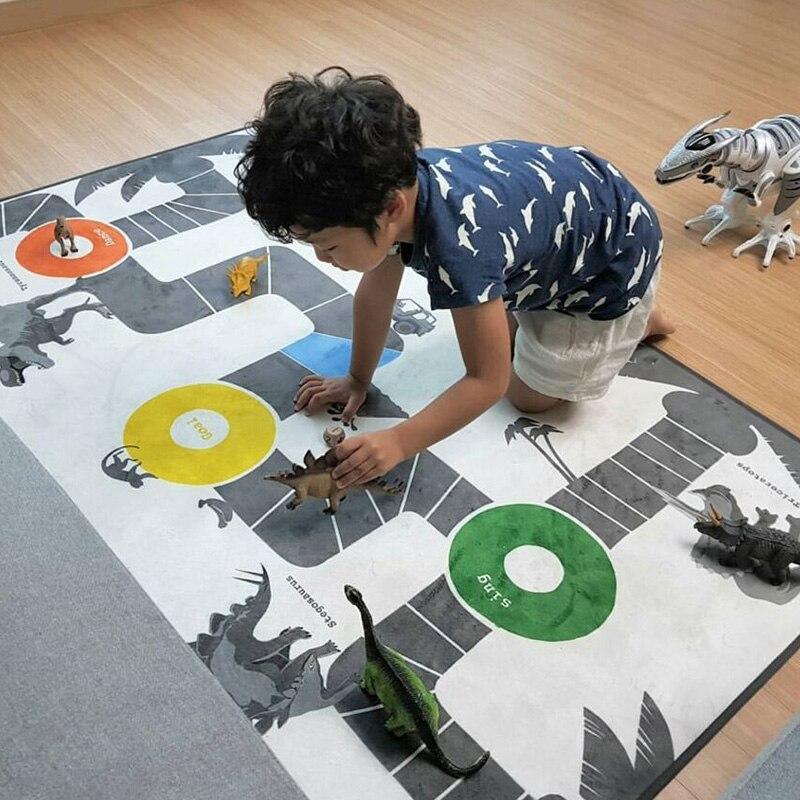 Bébé bébé dinosaures tapis de jeu Puzzle chambre d'enfants dessin animé animaux tapis carré chambre mignon dinosaure nouveau-né bébé ramper tapis