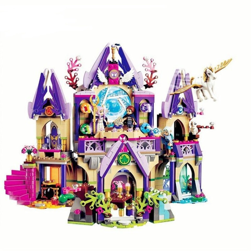 New elves Compatible With <font><b>legoinglys</b></font> 41708 Skyra's Mysterious <font><b>Sky</b></font> <font><b>Castle</b></font> Model Building Blocks DIY Bricks Educational Toys Gift image