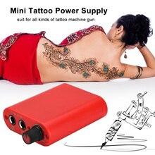 Источник питания для татуировок, мини источник питания с кабелем для тату-машинки, пистолета, ножной Педальный источник питания для татуировок