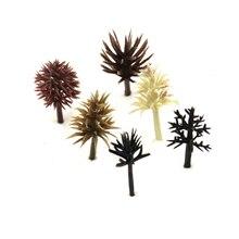 2-3 см Модель Дерево Игрушка Строительство поезд дерево украшения миниатюрный пейзаж смолы 10 шт. западное Зеркало Песок стол производство