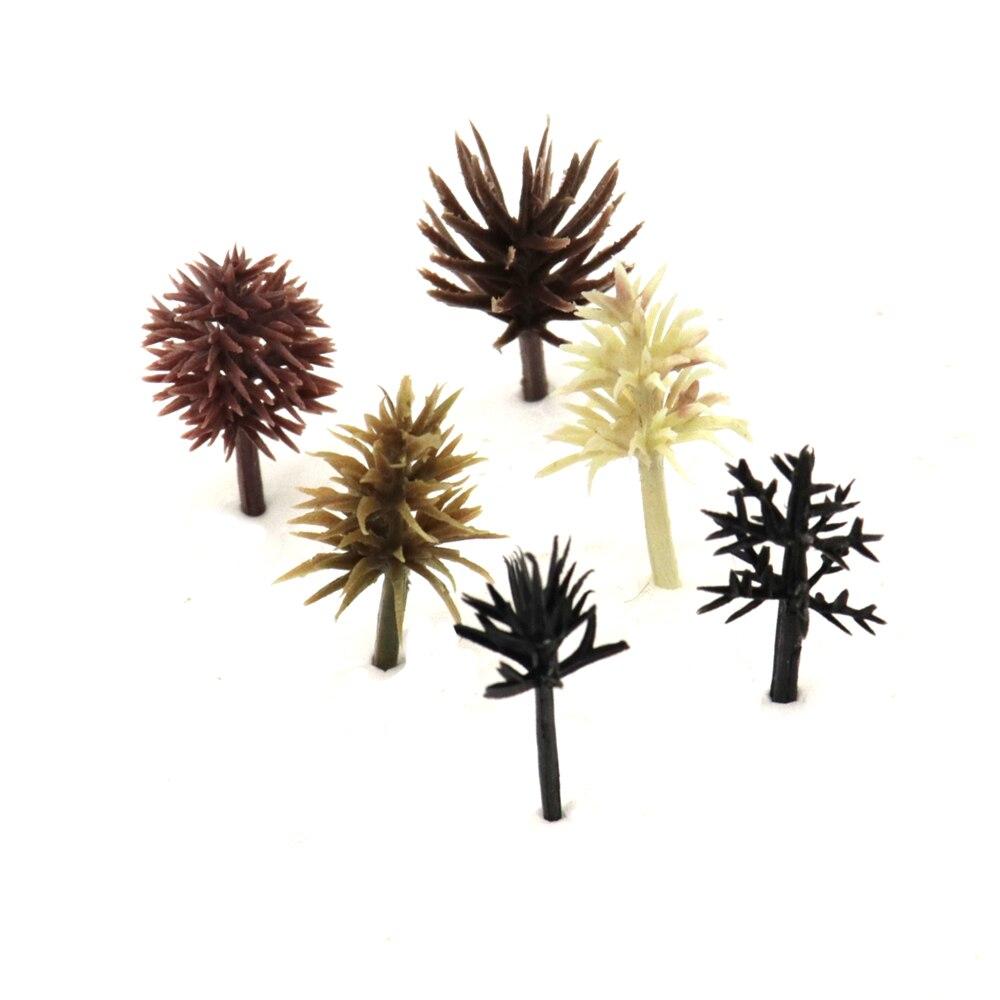 2-3cm architecture scale model Tree Decorations Miniatures Micro Landscape Resin Crafts