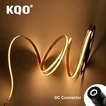 KQO DC 12V 24V 9.6ft / 3 Meters 30W 8mm Width High Density Flexible COB LED Strip Deformable LED Ribbon for Bedroom Kitchen