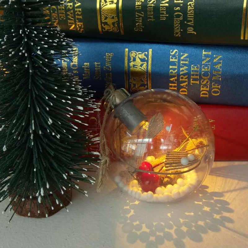 1/3 предмета; одинаковый пижамный комплект светящийся кулон подвесных шаров для занавесок Рождественский Декор прозрачная Елочная игрушка (сделай сам) со светодиодной лампой с Рождественская елка висячие украшения