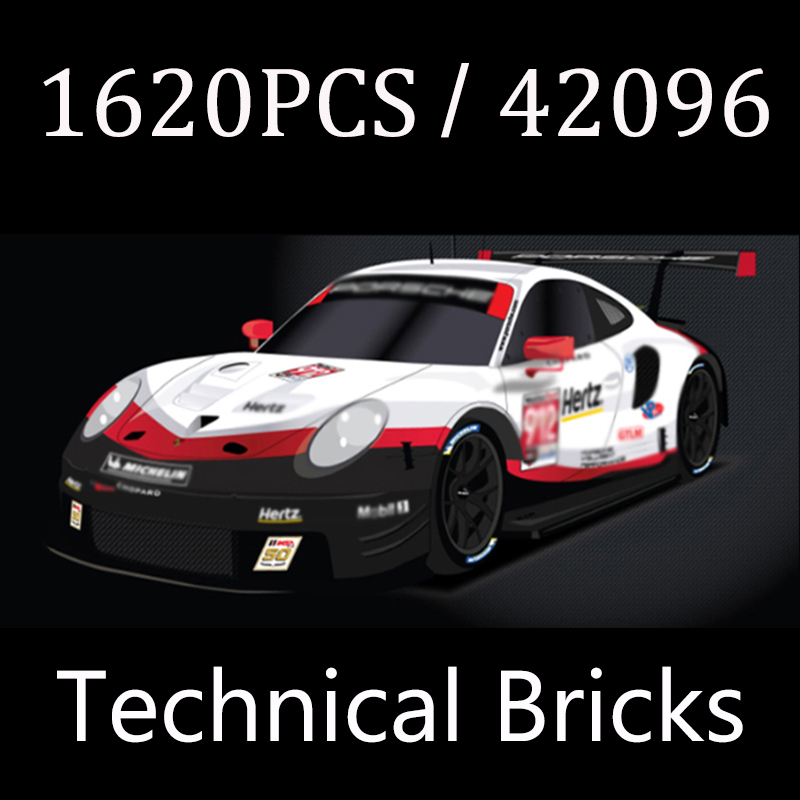 2021 NEW Technical White Super Sports Car RSR 1620 PCS Building Blocks Bricks Boy's Birthday Gift Compatible With 20097