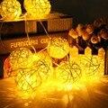 Светодиодный светильник KHLITEC 10 м 38 лампочек  шар  тайские фонарики  гирлянда на Рождество  окно  ротанг  шар  светильник s для праздника  свадь...