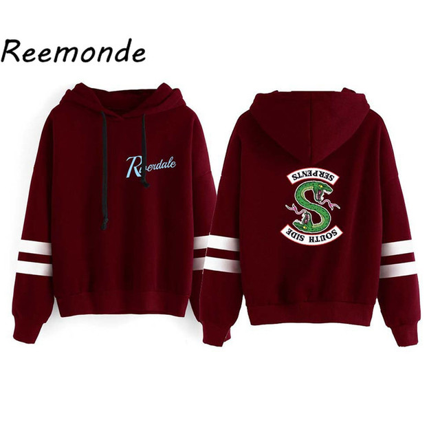 Riverdale Southside Serpents Hoodies Sweatshirts MenS Women South Side Serpents Hoodie Long Sleeve Striped Pullover Top Oversize 4