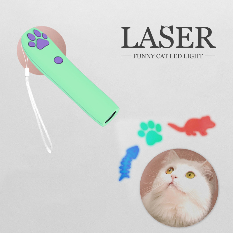 Design Cat Laser Toy Infrared LED Pattern 3 Molds Projector Pen Cat Toys Interactive Electric Pet Toys Cat Supplies