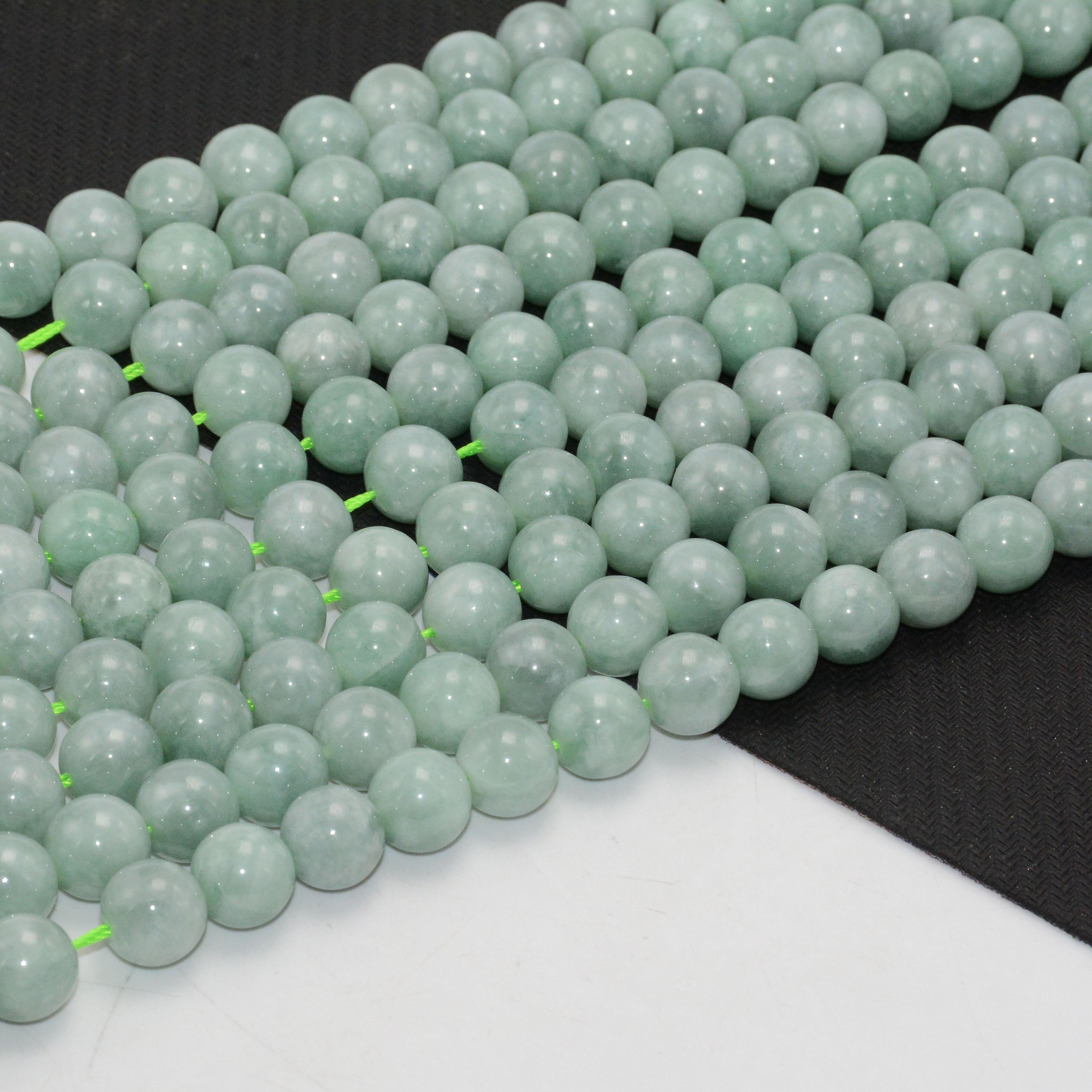 8mm Myanmar Burma jade natural pearls Lot of 20.