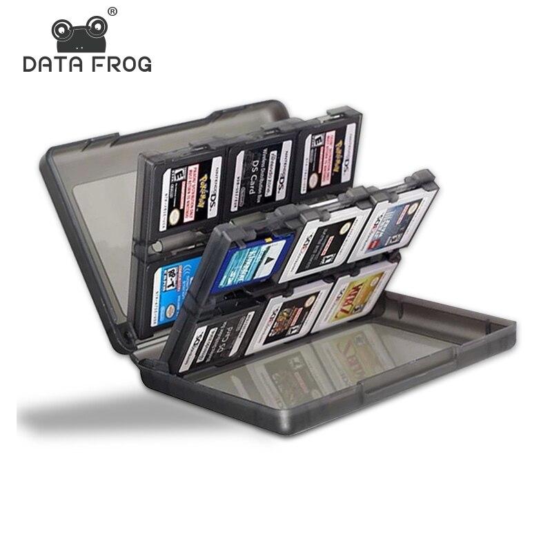 데이터 개구리 닌텐도 스위치에 대 한 1 휴대용 게임 카드 케이스에 24 NS 3DS 2DS/DS 라이트/dsl에 대 한 Shockproof 하드 쉘 스토리지 박스