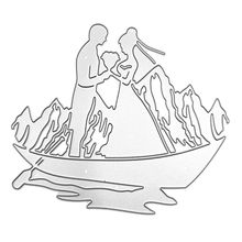 Boat Couple Metal Cutting Dies Stencil Scrapbooking DIY Album Stamp Paper Card Embossing Decor Craft leaf lantern metal cutting dies stencil scrapbooking diy album stamp paper cards embossing decor craft art new dies for 2020
