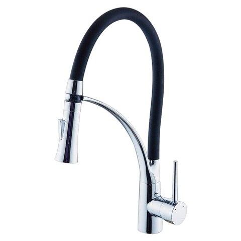 Torneira da Cozinha Graus de Rotação Quente e Fria Jeyl Pull Down Pulverizador Cozinha Bacia Sink Toque Mixer 360 Bico Água