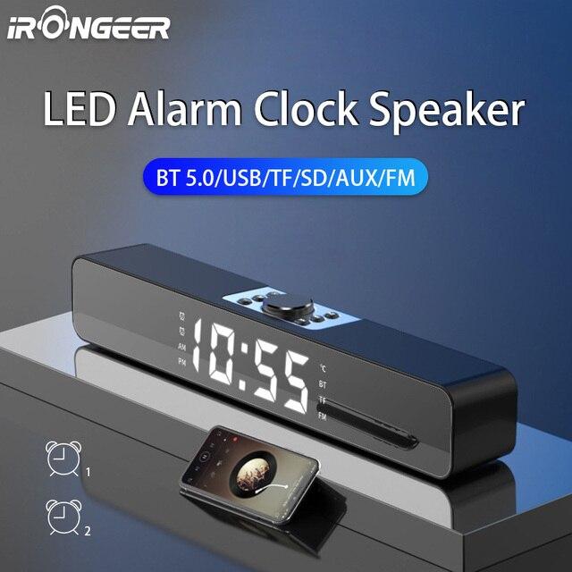 LED TV Sound Bar Alarm Clock AUX USB Wired Wireless Bluetooth Speaker Home Theater Surround SoundBar for PC TV Computer Speaker