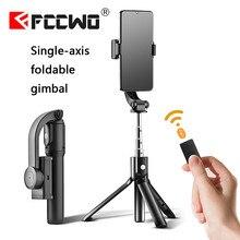 Único eixo handheld cardan estabilizador anti-shake tripé bluetooth zoom controle remoto selfie vara para telefone gopro câmera actio