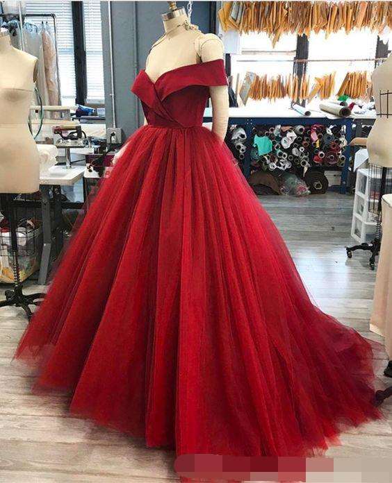 Off the Shoulder Quinceanera Dresses Ball Gown Prom Dresses Draped Satin Top Court Train vestidos de quinceanera Sweet 16 Dress