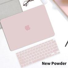 Casca dura caso do portátil fosco para macbook pro ar 11 13 a2159 a2289 a2338 ar 13 polegada a2337 a2179 a1932 a1466 com teclado capa
