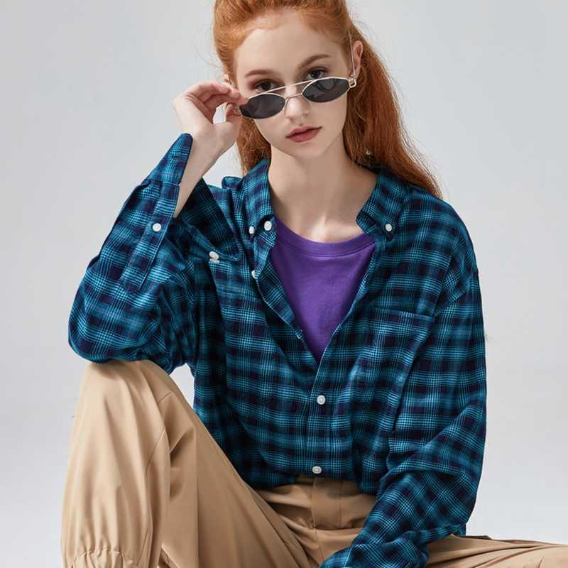 Metersbonwe新男性ハンサム長袖シャツ春の新作ファッション綿古典的なレトロなチェック柄シャツ