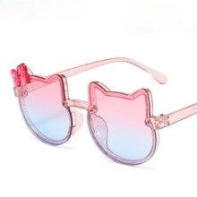 น่ารักแมวหูเด็กแว่นตากันแดดที่มีสีสัน Bows Shiny Bright แว่นตากันแดดสำหรับชายและหญิงแฟชั่น Selfie แว่นตา