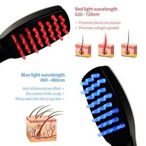 Image 2 - 育毛ヘアケアトリートメントレーザーマッサージくし振動毛の櫛のマッサージ機器くしヘアブラシ成長レーザー脱毛治療
