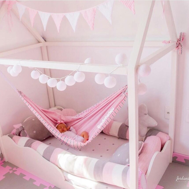 Baby Cribs Hanging Hammock Detachable Portable Folding Indoor Room Outdoor Swing Safety Infant Sleeping Bed Kids Funny Swing 3
