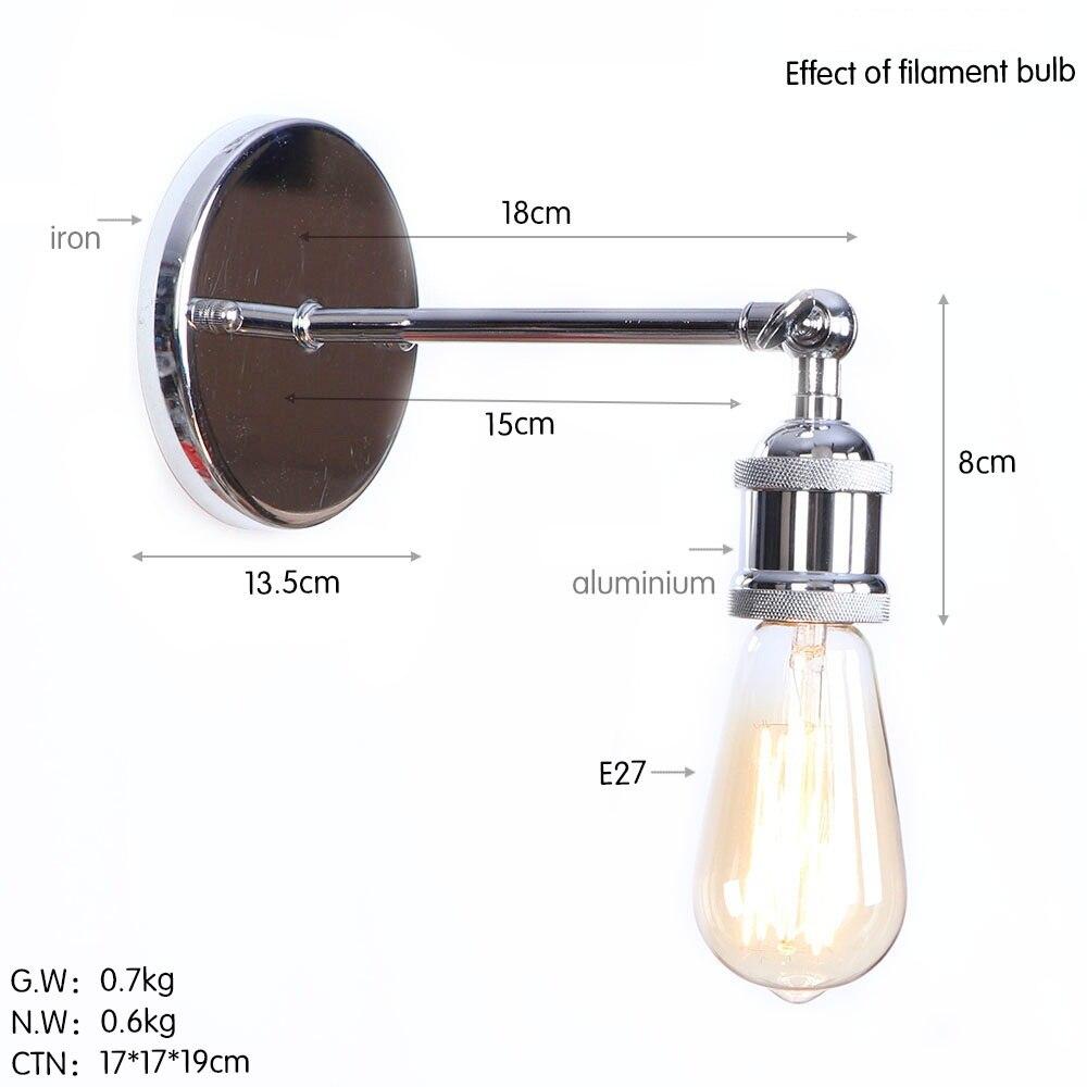 B0006 铬色 尺寸图 钨丝