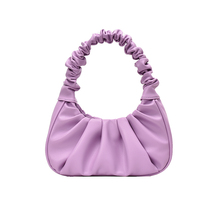 Luxury women's bag solid color handbag 2020 new fashion PU leather hand fold handbag women's bag 2018 new shaggy deer brand luxury shiny golden quality falabellas 3 chain fold over classical pvc handbag