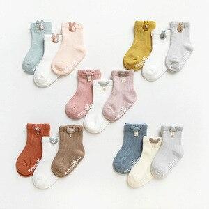 3 Paare/los Infant Socke Nette Cartoon Neugeborenen Baby Socken Abgabe Kleber Nicht-slip Jungen Mädchen Baby Socken Boden Socken kinder Socke
