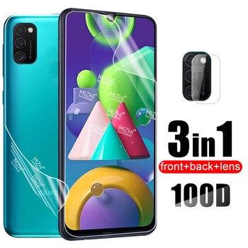 Перейти на Алиэкспресс и купить 100D Гидрогелевая пленка для Samsung Galaxy M21 M11 A51 A71 A31 M30S задняя защитная пленка для Samsung A 51 71 M 21