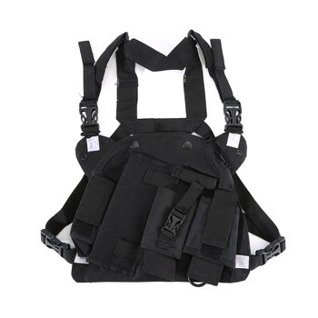 Walkie Talkie Rescue Essentials Double Radio Shoulder Holster Chest Harness Holder for Baofeng UV-5R UV-82 UV-9R PLUS